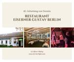 Firmenevent im Restaurant Eiserner Gustav Berlin